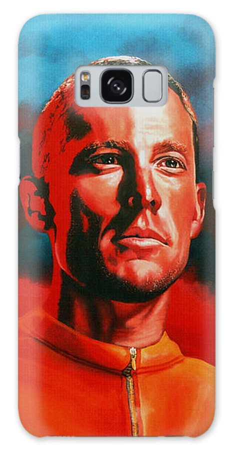 Lance Armstrong Galaxy S8 Case featuring the painting Lance Armstrong 2 by Paul Meijering