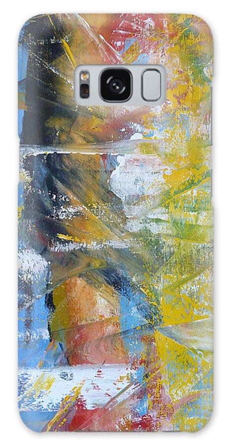 Derek Kaplan Art Galaxy S8 Case featuring the painting Land Of The Lost by Derek Kaplan