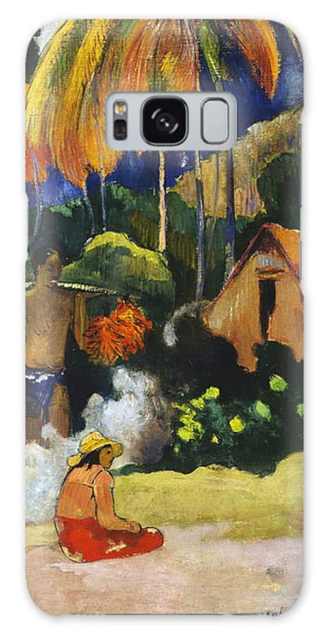 Paul Gauguin Galaxy S8 Case featuring the painting Landscape In Tahiti.mahana Maa by Paul Gauguin