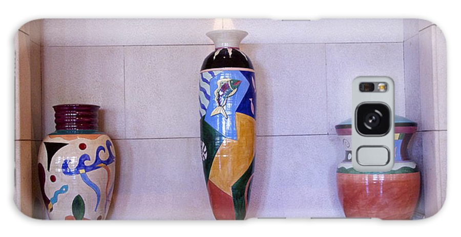 Jars Galaxy S8 Case featuring the photograph Large Pottery by Dick Willis