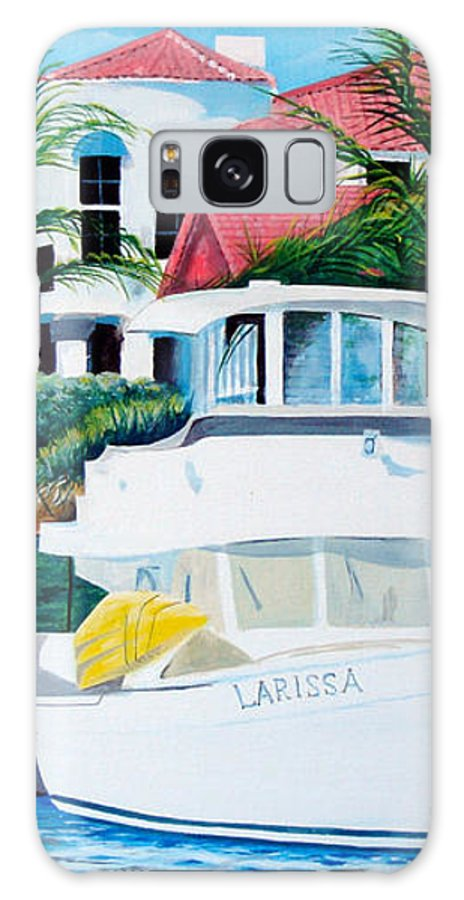 Dock Galaxy S8 Case featuring the painting Larissa by Illona Battaglia Aguayo