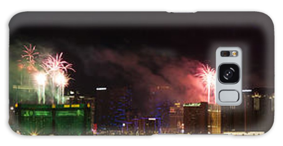 Las Vegas Galaxy S8 Case featuring the photograph Las Vegas Fireworks by Kevin Grant