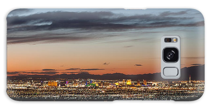 City Lights Galaxy S8 Case featuring the photograph Las Vegas Lights by Kevin Grant
