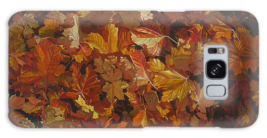 Fall Galaxy Case featuring the painting Last Fall In Monroe by Thu Nguyen