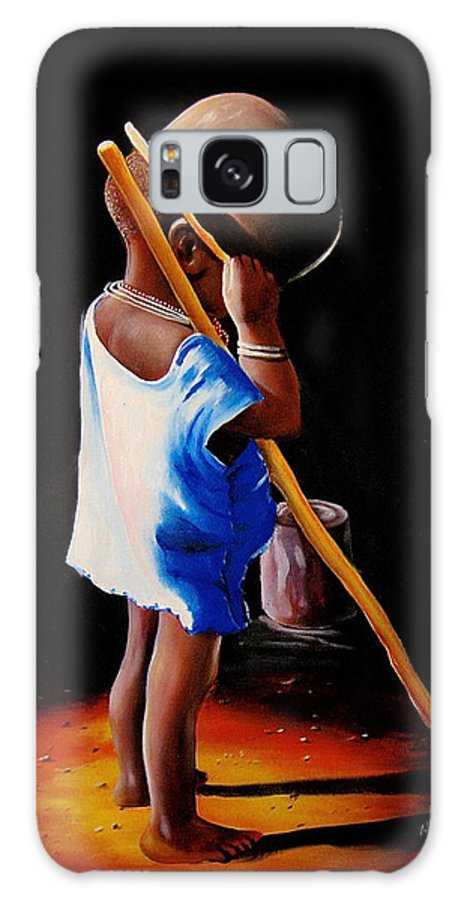 African Paintings Galaxy S8 Case featuring the painting Last Of The Stew by Chagwi