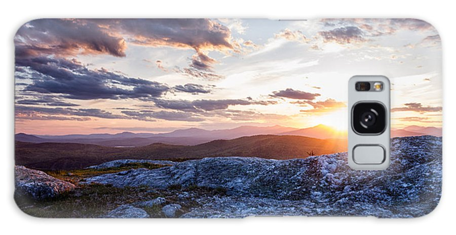 Eaton Galaxy S8 Case featuring the photograph Last Rays. Sunset On Foss Mountain. by Jeff Sinon
