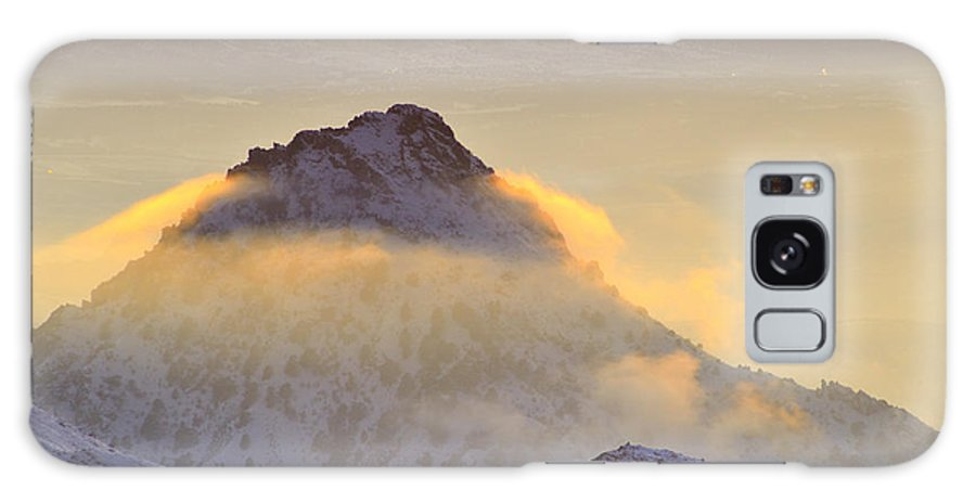 Sunset Galaxy S8 Case featuring the photograph Last Sunset Light In The Clouds by Guido Montanes Castillo