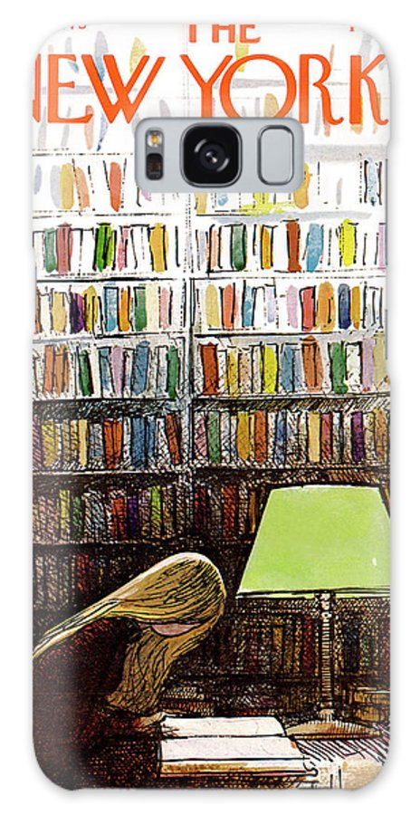 Library Galaxy S8 Case featuring the painting Late Night At The Library by Arthur Getz