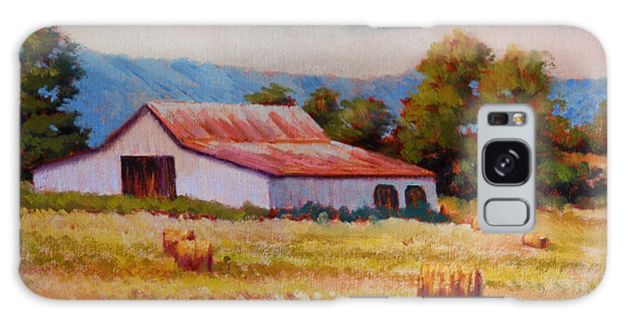 Impressionism Galaxy Case featuring the painting Late Summer Hay by Keith Burgess