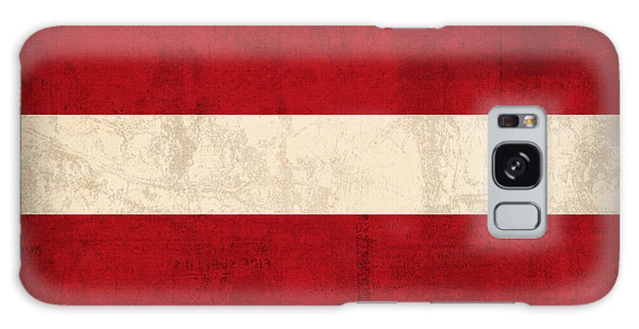 Latvia Galaxy S8 Case featuring the mixed media Latvia Flag Vintage Distressed Finish by Design Turnpike