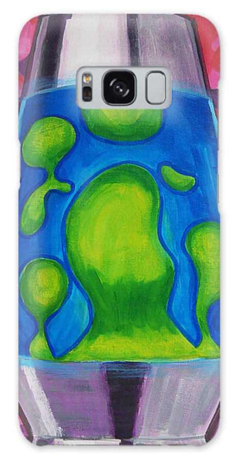 Lava Lamp Galaxy S8 Case featuring the painting Lava Lamp by Tommy Midyette