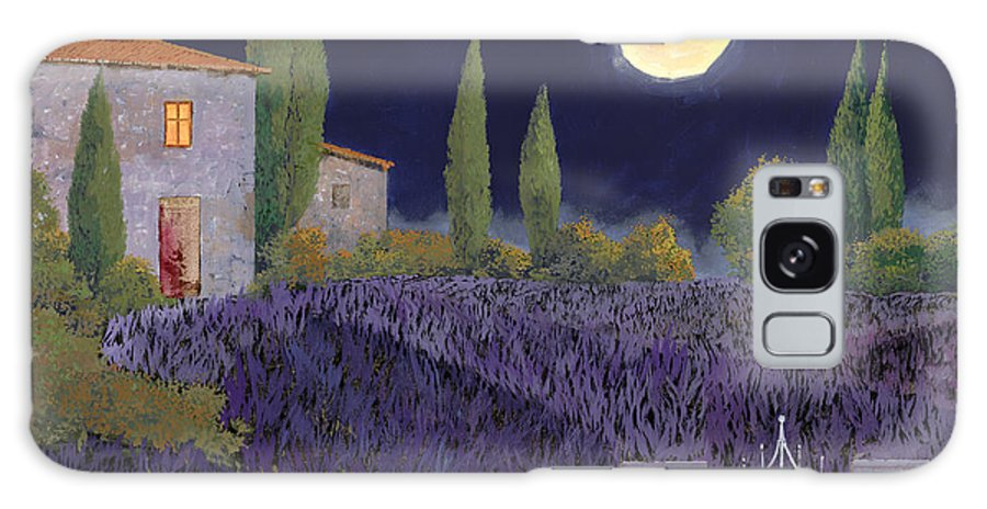 Tuscany Galaxy S8 Case featuring the painting Lavanda Di Notte by Guido Borelli