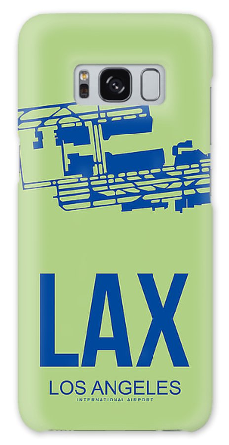 Los Angeles Galaxy S8 Case featuring the digital art Lax Airport Poster 1 by Naxart Studio