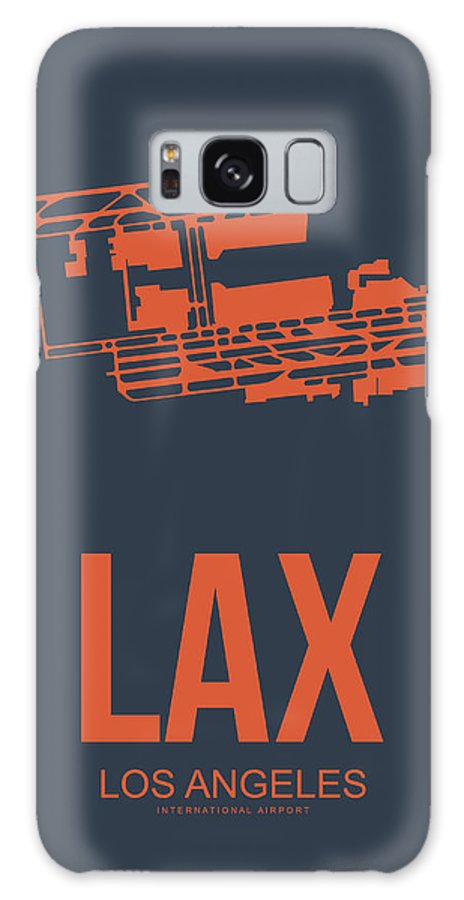 Los Angeles Galaxy S8 Case featuring the digital art Lax Airport Poster 3 by Naxart Studio