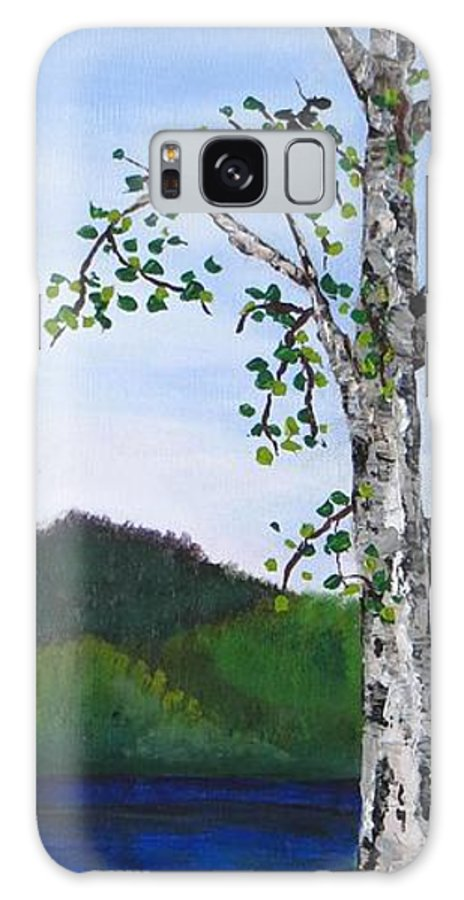 Landscape Galaxy S8 Case featuring the painting Lazy Daze Of Summer by Wanda Pepin
