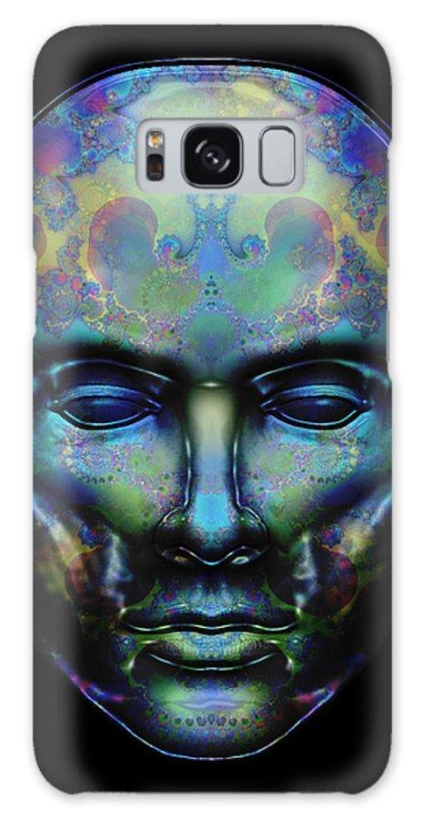 Portrait Galaxy S8 Case featuring the digital art Le Masque De Minuit by Samantha Cortenbach