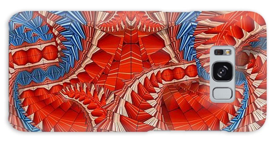 Abstract Galaxy S8 Case featuring the digital art Leaf Pattern In Red by Ron Bissett