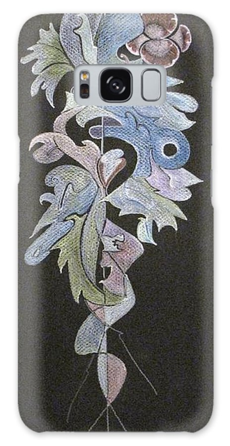 Galaxy S8 Case featuring the painting Leaf Study 1 by JoAnn Cotyjo Smith