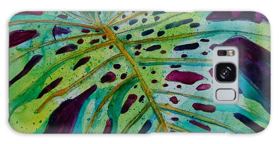 Leaf Galaxy S8 Case featuring the painting Leaf by Terry Holliday