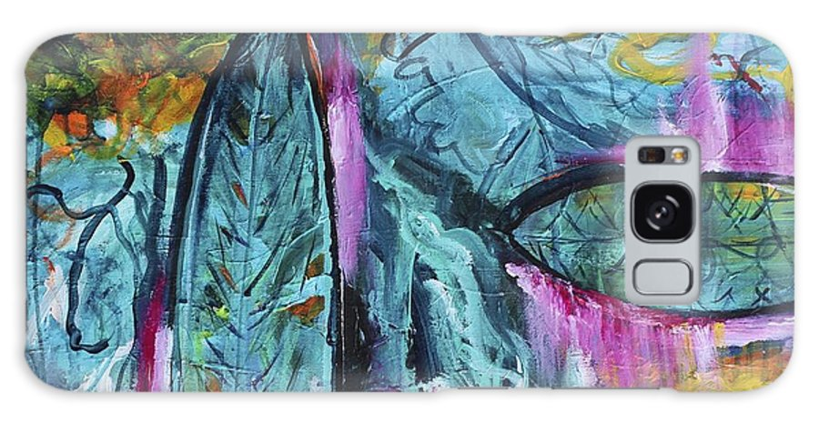 Abstract Galaxy S8 Case featuring the painting Learning To Allow by Ann Lauren