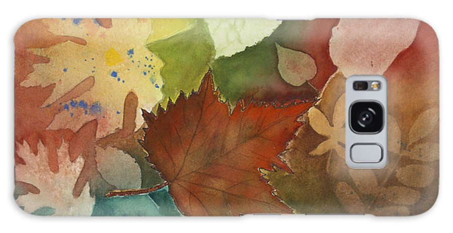 Leaves Galaxy S8 Case featuring the painting Leaves Vl by Patricia Novack