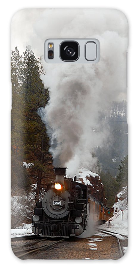 Steam Train Galaxy S8 Case featuring the photograph Leaving The Rockwood Cut by Ken Smith