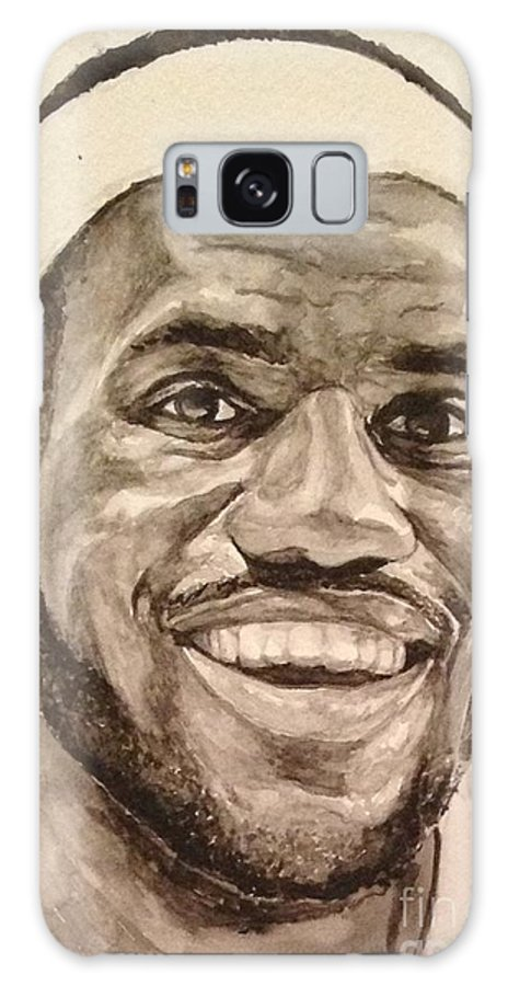 Lebron James Galaxy S8 Case featuring the painting Lebron James by Tamir Barkan