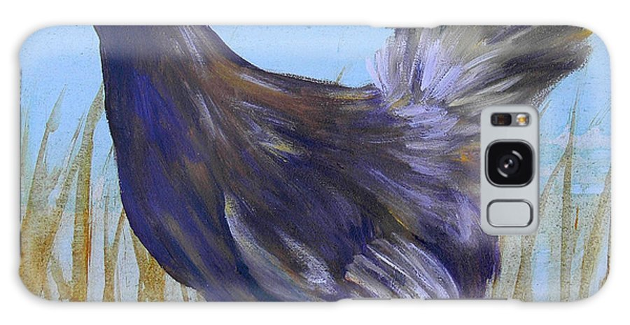Chicken Galaxy S8 Case featuring the painting Legbar Chicken by Judy Bruning