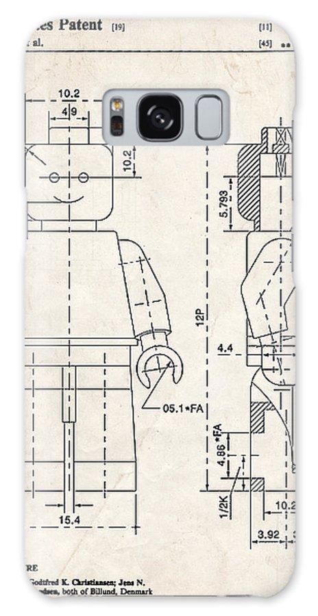Lego Minifigure Patent Art Galaxy S8 Case