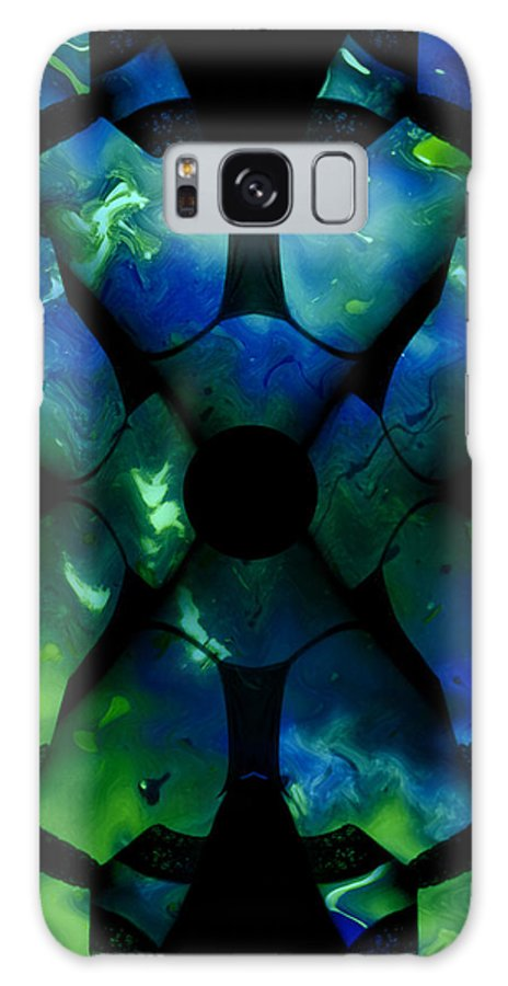Woman Women Nude Naked Boobs Tits Breast Color Colorful Abstract Impressionism Expressionism Digital Art Two Arms Hand Body Scape Female Erotic Sex Sexual Galaxy S8 Case featuring the digital art Legs by Steve K