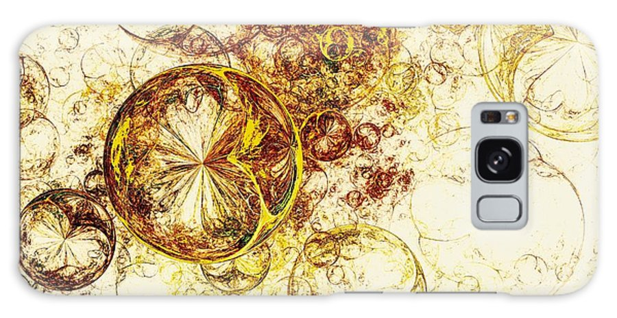 Malakhova Galaxy S8 Case featuring the digital art Lemon Bubbles by Anastasiya Malakhova