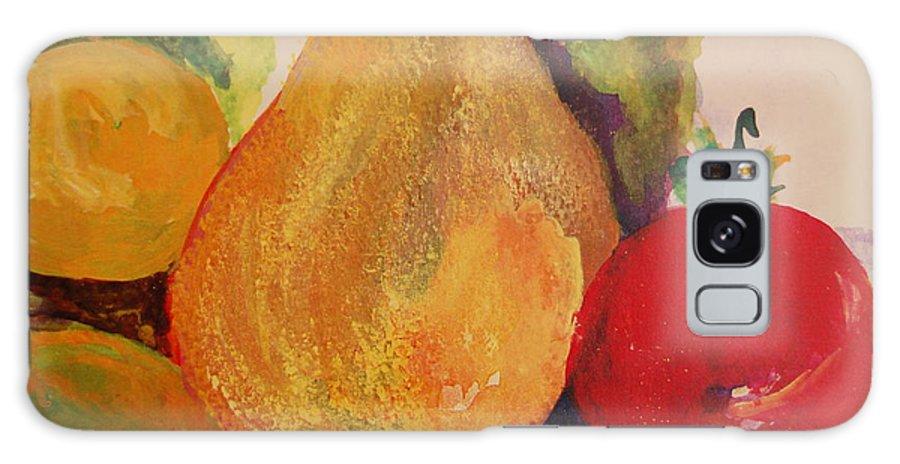 Lemon Pear Apple Galaxy S8 Case featuring the painting Lemons Pears Apples by Lynn Beazley Blair
