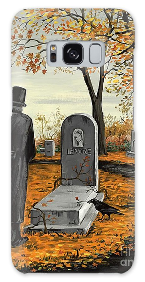 Edgar Allan Poe Galaxy S8 Case featuring the painting Lenore Lenore by Margaryta Yermolayeva