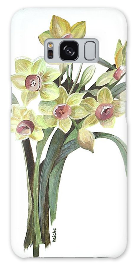 Daffodil Galaxy S8 Case featuring the painting Lent Lily by Taiche Acrylic Art
