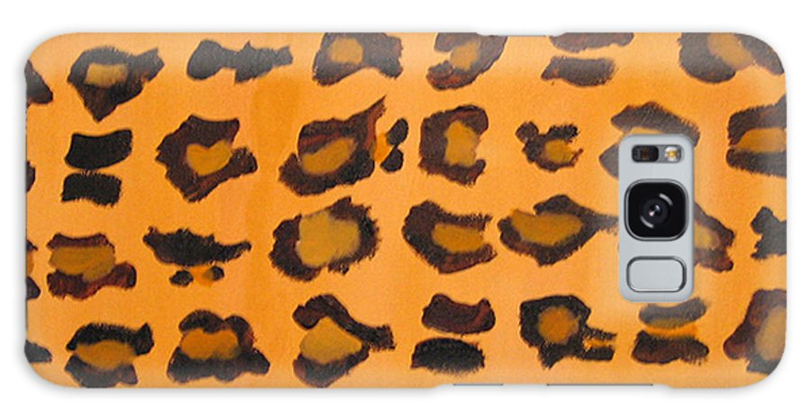 Animal Print Leopard Print Galaxy S8 Case featuring the painting Leopard Print Hand Painted Leopard Print by RjFxx at beautifullart com