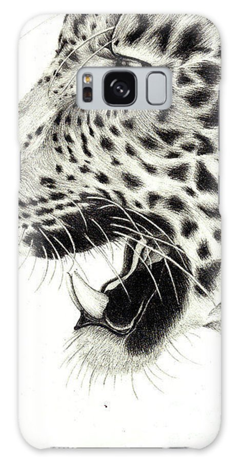 Hurt Galaxy S8 Case featuring the drawing Lep by Amy Pike