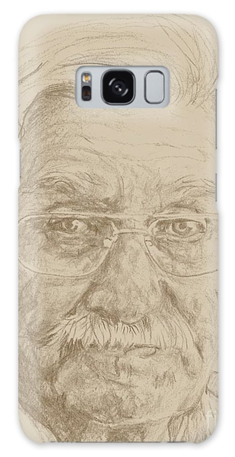 Elderly Galaxy S8 Case featuring the drawing Leroy by PainterArtist FIN