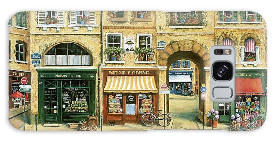 Wine Shop Galaxy S8 Case featuring the painting Les Rues De Paris by Marilyn Dunlap