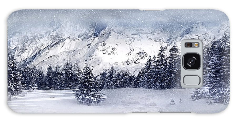 Beautiful Galaxy S8 Case featuring the digital art Let It Snow by Svetlana Sewell
