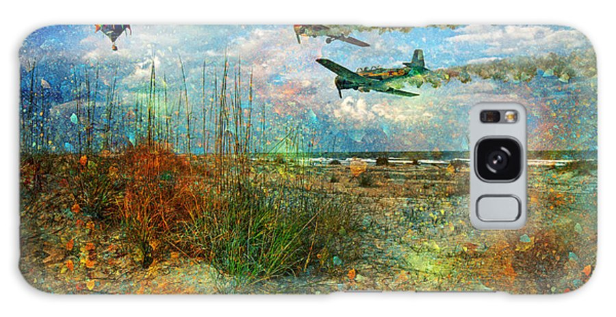 Beach Galaxy S8 Case featuring the digital art Let's Fly by Betsy Knapp