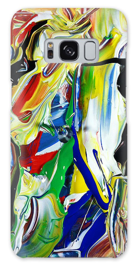 Emotion Galaxy S8 Case featuring the painting Let's Lose Control Together Tonight by Douglas G Gordon