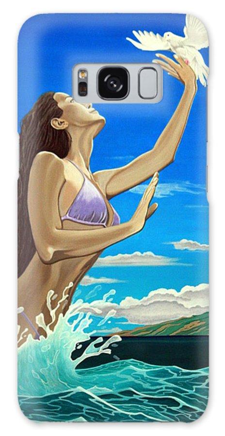 Greg Guzman Galaxy S8 Case featuring the painting Letting Go And Letting God by Greg Guzman