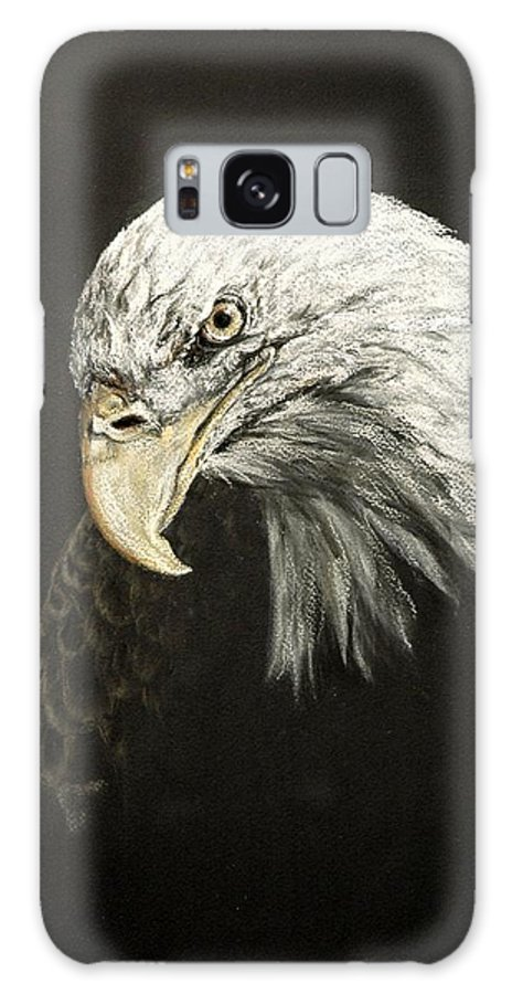 Eagle Art Galaxy S8 Case featuring the pastel Lia by Pat Morris
