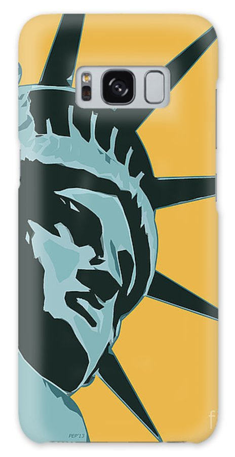 Liberty Galaxy S8 Case featuring the digital art Liberty Usa by Phil Perkins