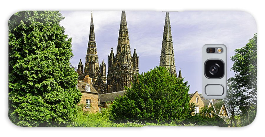 Lichfield Galaxy S8 Case featuring the photograph Lichfield Cathedral From The Garden by Rod Johnson