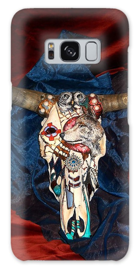 Skull Galaxy S8 Case featuring the mixed media Life From Death by Jamie Jonas
