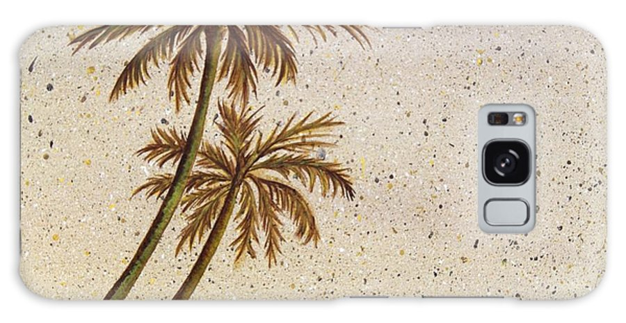 Palm Tree Galaxy S8 Case featuring the painting Life In The Midst by Debbie Broadway
