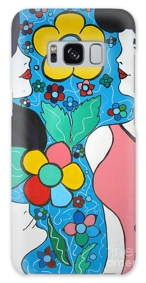 Pop Art Galaxy Case featuring the painting Life Is Beautiful by Silvana Abel
