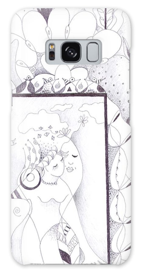 Figurative Abstraction Galaxy S8 Case featuring the drawing Life Is Tempting by Helena Tiainen