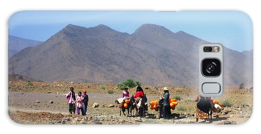 Morocco Galaxy S8 Case featuring the photograph Life On The Atlas Mountains by Teresa Ruiz